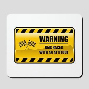 Warning BMX Racer Mousepad