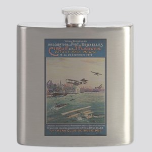 Cancelled Float Plane Show - Vintage Poster Flask
