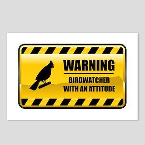 Warning Birdwatcher Postcards (Package of 8)