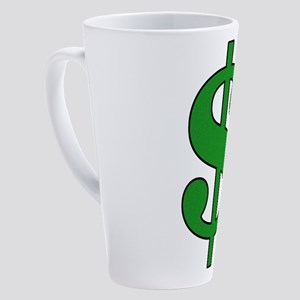 Dollar Sign 17 oz Latte Mug