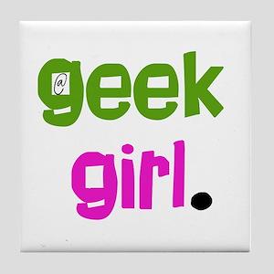 geek Girl Tile Coaster