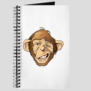 Funny Monkey Ape Face Journal