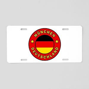 Munchen Deutschland Aluminum License Plate