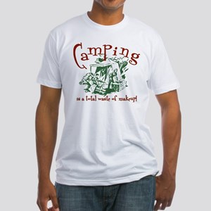 Camping Makeup Fitted T-Shirt