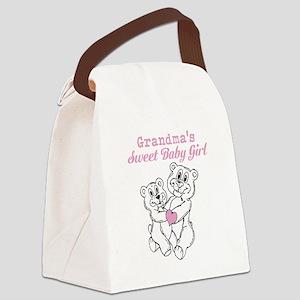 Bears Grandmas Sweet Baby Girl Canvas Lunch Bag