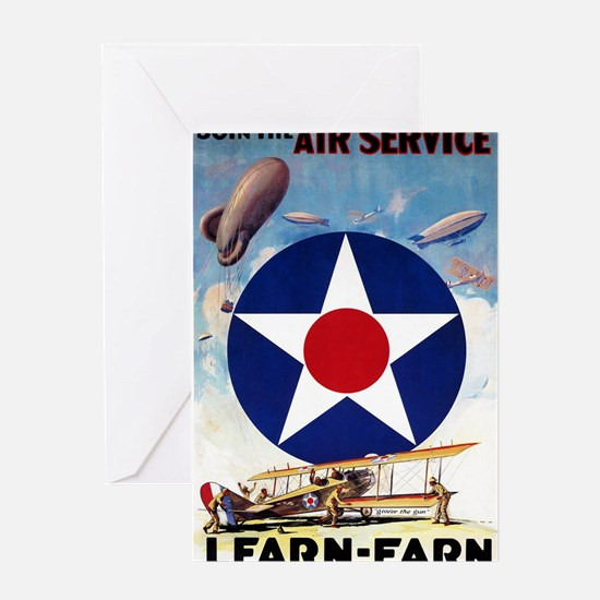 Join the Air Service Learn-Earn WWI Greeting Cards