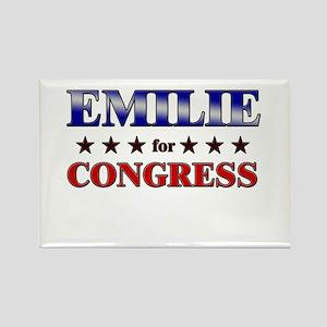 EMILIE for congress Rectangle Magnet