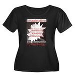 Einstein 1947 Women's Plus Size Scoop Neck Dark T-