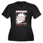 Einstein 1947 Women's Plus Size V-Neck Dark T-Shir