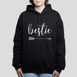 Bestie Right Arrow in Wh Women's Hooded Sweatshirt