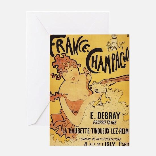 E. Debray Champagne - Vintage Promotional Poster G