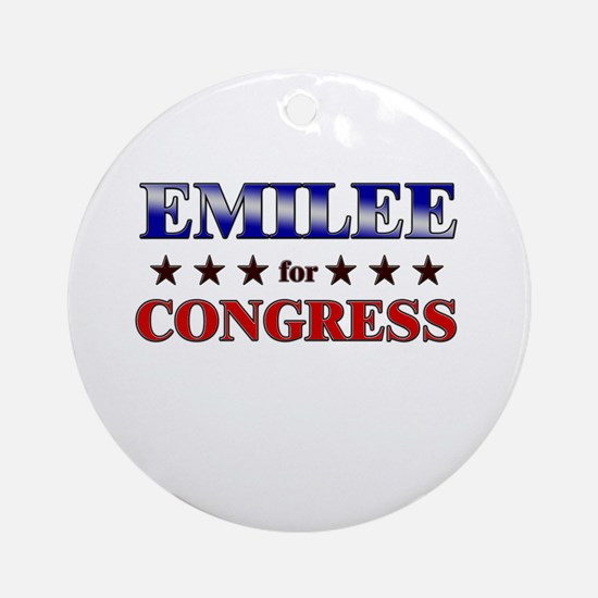 EMILEE for congress Ornament (Round)