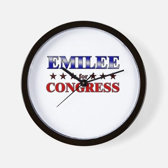 EMILEE for congress Wall Clock