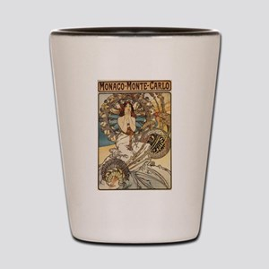 Woman Dressed in Feathers - Art Nouveau Shot Glass