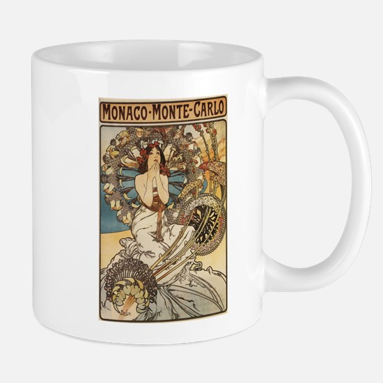 Woman Dressed in Feathers - Art Nouveau Mugs