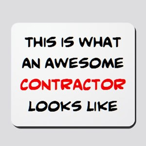 awesome contractor Mousepad