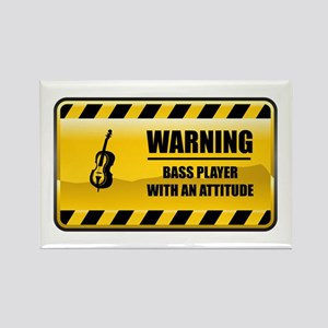 Warning Bass Player Rectangle Magnet