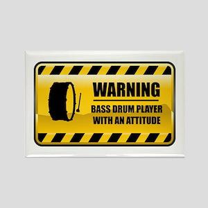 Warning Bass Drum Player Rectangle Magnet