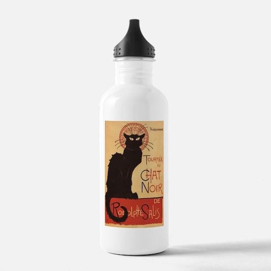 Chat Noir Cabaret Troupe Black Cat Water Bottle