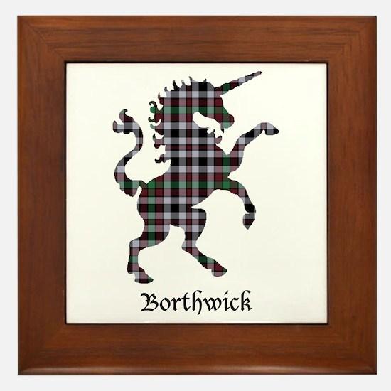 Unicorn - Borthwick Framed Tile
