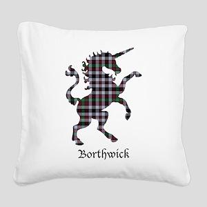 Unicorn - Borthwick Square Canvas Pillow