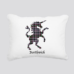 Unicorn - Borthwick Rectangular Canvas Pillow