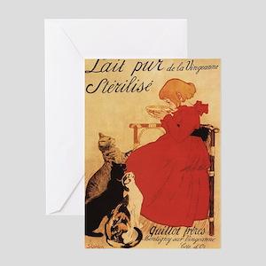 Vingeanne Milk Girl w/Cats - Vintage Promo Poster