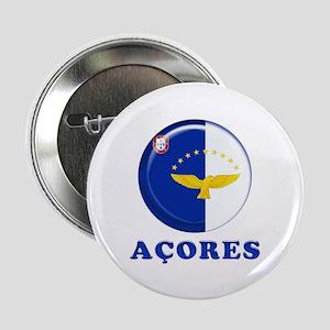 """Azores islands flag 2.25"""" Button"""
