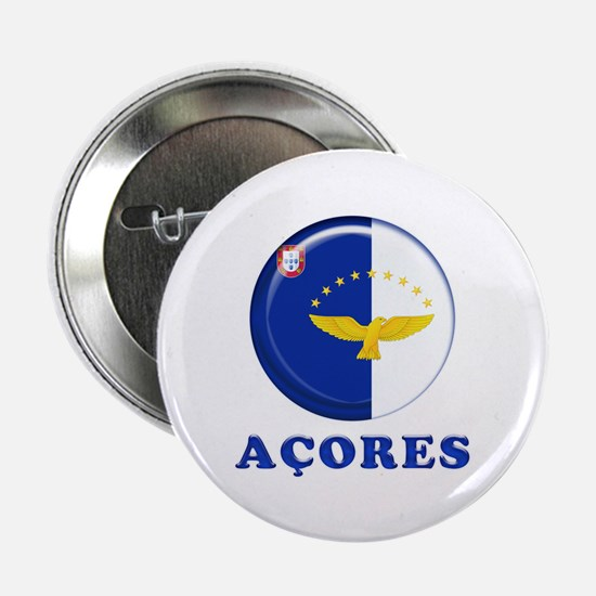 "Azores islands flag 2.25"" Button"