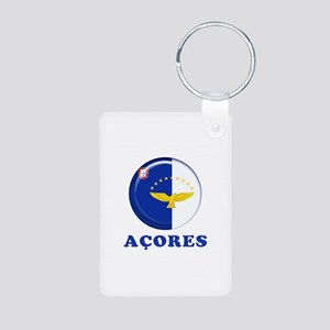 Azores islands flag Keychains