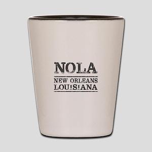 NOLA New Orleans Vintage Shot Glass
