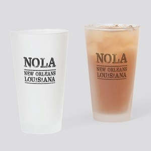 NOLA New Orleans Vintage Drinking Glass