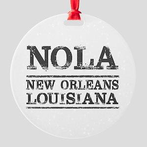 NOLA New Orleans Vintage Round Ornament
