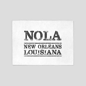 NOLA New Orleans Vintage 5'x7'Area Rug