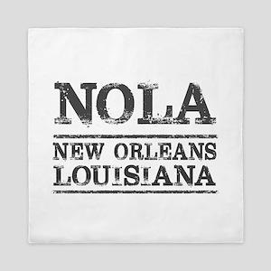 NOLA New Orleans Vintage Queen Duvet