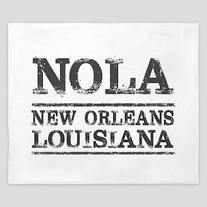 NOLA New Orleans Vintage King Duvet