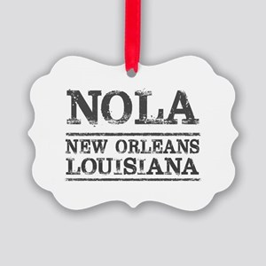 NOLA New Orleans Vintage Picture Ornament