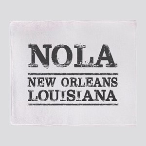 NOLA New Orleans Vintage Throw Blanket