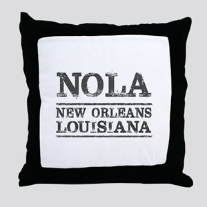 NOLA New Orleans Vintage Throw Pillow