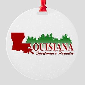 Louisiana Round Ornament