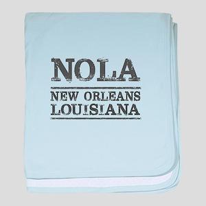 NOLA New Orleans Vintage baby blanket