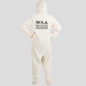 NOLA New Orleans Vintage Footed Pajamas
