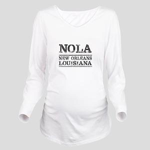 NOLA New Orleans Vin Long Sleeve Maternity T-Shirt