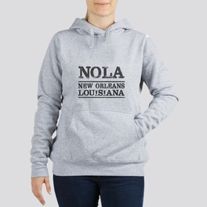 NOLA New Orleans Vintage Women's Hooded Sweatshirt