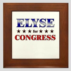 ELYSE for congress Framed Tile