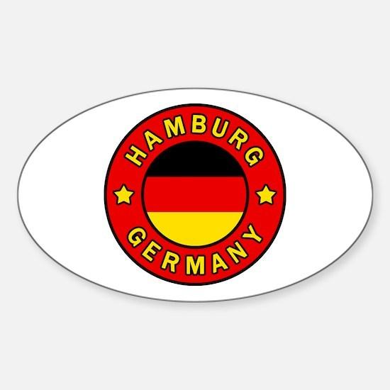 Unique Hamburg state flag Sticker (Oval)