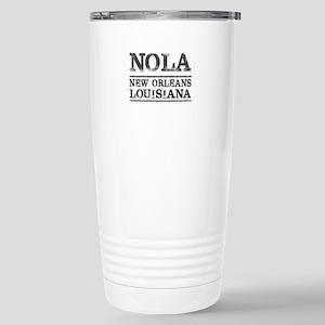 NOLA New Orleans Vintag Stainless Steel Travel Mug