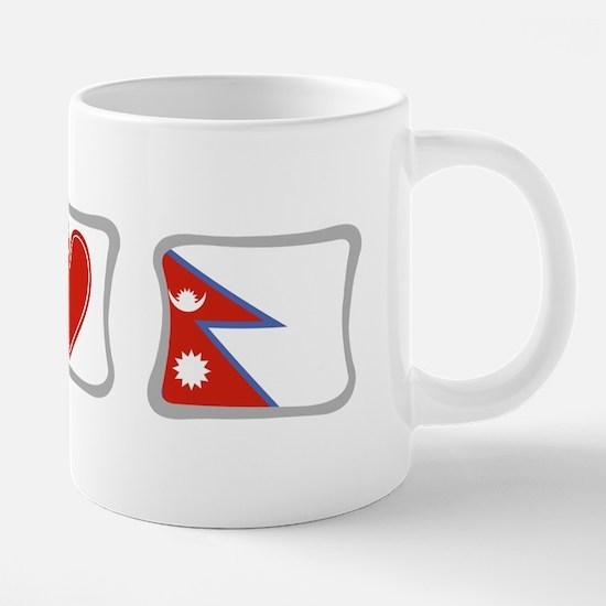 Peace, Love and Nepal Mugs
