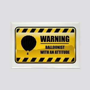 Warning Balloonist Rectangle Magnet