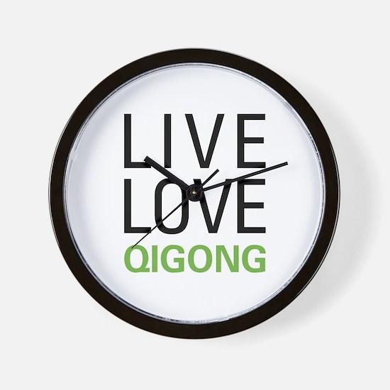 Live Love Qigong Wall Clock